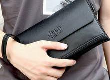 PRADO JEEP BULUO Classic Zipper Cluth Long Design Men Leather Purse