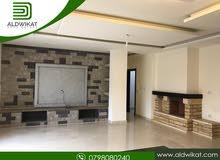 شقة مميزة ارضية للايجار في دابوق مساحة البناء 330 م مساحة الترس 40 م