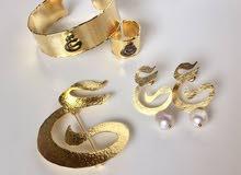مجوهرات مطليه بذهب بحرفك