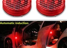 LED Car Door Warning Lights Red Collision-free Safety Magnet Flash Signal Light