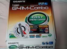 مازربورد وبروسيسور Motherboard g41m combo + pentium Dual core E5400
