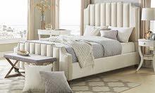 Chareau Velvet Upholstered Nailhead Bed - ATOZ-B-141915
