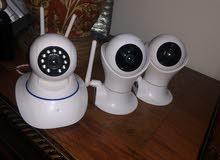3 كاميرات مراقبه تصوير صور فيديو صوت واي فاي سعر نهأي 500