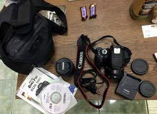 Canon 700D with 2 lenses 18-55 & 50mm