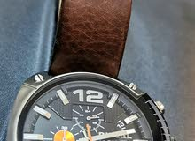 Diesel watch brown leather perfect condition