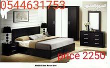 مجموعة غرفة نوم قوية أنا جعلت في تايلاند سعر 1300 فقط اللون المتاحة أسود اللون ا