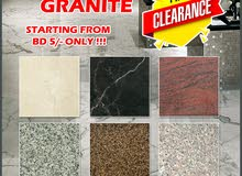 **STOCK CLEARANCE** MARBLE & GRANITE TILES