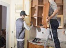 معلم نجار فك وتركيب غرف نوم داخل المنازل مع صيانة