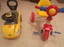 سيكل وسيارة اطفال