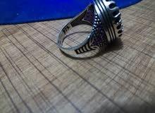 خاتم فضه حجر الياقوت