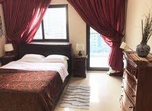 دبي مارينا غرفتين وصالة مفروشة سوبر لوكس مع بلكونة واطلالة علي مارينا- شهري شامل