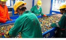 عمال انتاج مصنع بلاستيك لشركه ايجل