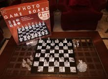 Glass chess game board New