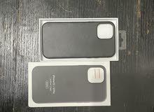 Iphone 12 pro magsafe leather case black