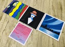 لوحات برسم اليد بالالوان