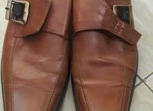 حذاء جلد طبيعي مقاس 42