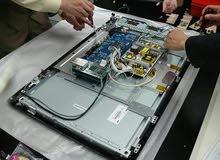 صيانة جميع أنواع الشاشات وأجهزة الإستقبال