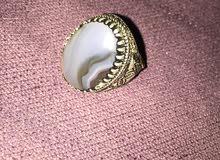 خاتم فضة و عقيق يمني