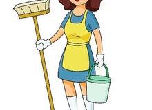 يوجد عاملات  نظافة للمنازل ومكاتب يومي شهري