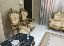 اثاث مصري 14كرسي مع طاولات ومكتبة تلفاز كبيرة فقط ب400
