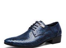 حذاء رسمي ازرق فخم