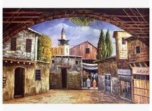 لوحات فنية دمشقية فخمة للبيع