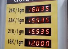 لوحات عرض اسعار الذهب