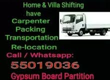 Moving, Shifting, Carpenter, Packing,  Painting, Pickup. 55019036 (Good Price)