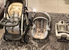 نظام أمان الطفل المتكامل من Graco (عربانه + كرسى سيارة+ قاعدة سيارة )