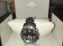 ساعة تيسوت مستعملة اصلية مع الفاتورة والعلبة من الغزالي.