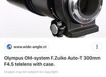 عدسة olympus T300 F4.5