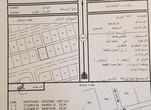 أرض سكنية للبيع شناص الغوابي غرب الشارع بالقرب من ملعب كرة قدم وسط المنازل السعر