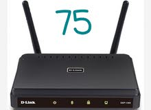 d link wifi router  & Etisalat WiFi router  each 75 together 130 dh