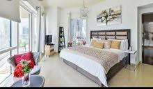 شقة مفروشة بالتعاون غرفة وصالة وحمامين مع بلكونة