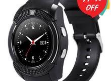خصم 17%Smart Watch V8 أسود