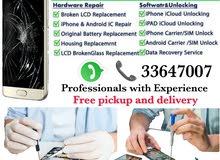 Mobile Phone Repairs and Unlocking  call 3364-7007