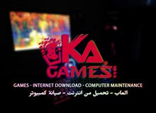 KaGames - خدمات العاب كمبيوتر - صيانة كمبيوتر - تحميل من الانترنت
