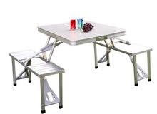 طاولات ستيل  سهلة الطي الكامل شكل حقيبه