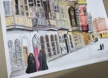 لوحة شناشيل بغداد (بيوت بغدادية قديمة)