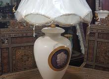 تيبل لامب انتيكة اهورا إيطالي صناعة يدوية مطلي بالذهب