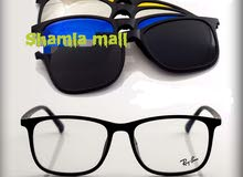 نظارة ريبان نظر مع اربع غيارات مغناطيس
