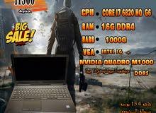DELL PRECISION 7510 كورI7 جيل سادس 6820 HQ رمات 16جيجا DDR4- جرافيك2019 و 2020