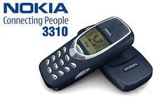 نوكيا 3310 2000 بحالة الوكاله معه شاحن اصلي وصناعة فلندي الاصلي
