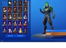 fortnite account 35 skins season 3 to 9