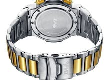 Jbw Saxon Men's Gold Dial Stainless Steel Band Watch