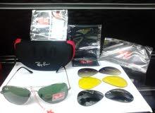 RayBan Sunglasses باربع عدسات للتبادل
