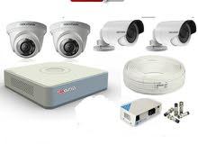 منظومة كاميرات مراقبة كاملة Hikvision  بالشيك او حوالة
