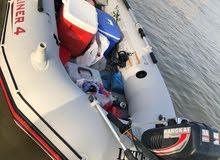 قارب  جديد مع محرك بترول جديد