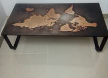 center table with world map