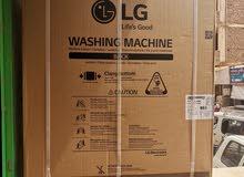 غسالة LG مقاس 10 كيلو جديدة حوضين